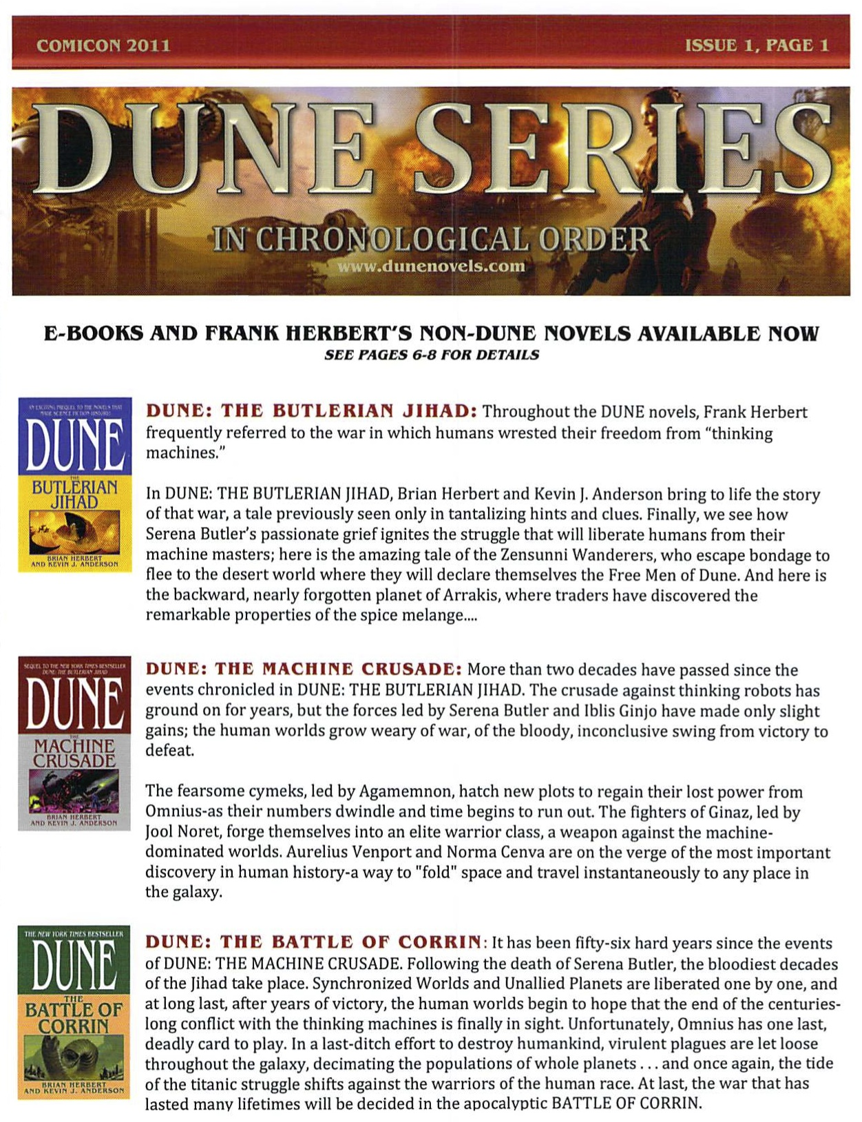 Dune Novels Chronology Free Giveaway The Official Dune